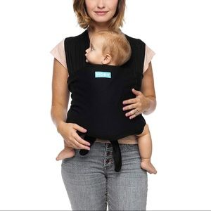 brand new classic black Moby wrap baby carrier